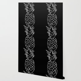 single line pineapple (white) Wallpaper