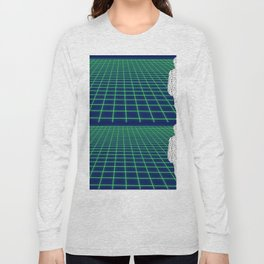 80's Postmodern Mystery Grid Long Sleeve T-shirt