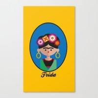 frida Canvas Prints featuring Frida by Juliana Motzko