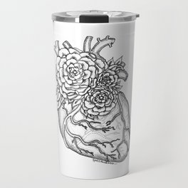 Flower heart anatomy with Love Travel Mug