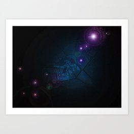 Galaxies Away Art Print