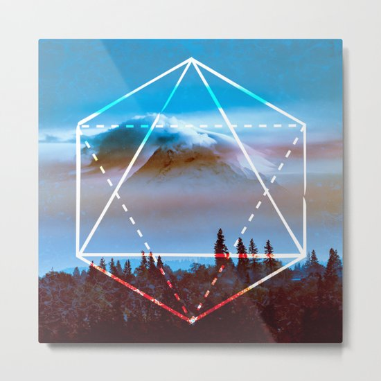 The Elements Geometric Nature Element of Air Metal Print