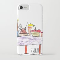 thanksgiving iPhone & iPod Cases featuring Thanksgiving Feast by Ryan van Gogh