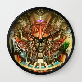 Young Sadhu's visionary pilgrimage Wall Clock