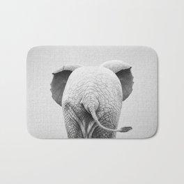 Baby Elephant Tail - Black & White Bath Mat