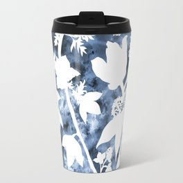 Watercolor Floral Cutout Print Travel Mug