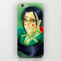 black butler iPhone & iPod Skins featuring Butler Grell Colour Challenge by Falln