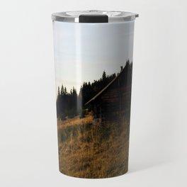 Cosy carpathian cabin Travel Mug