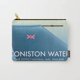 Coniston Water, lake district, England travel poster Carry-All Pouch