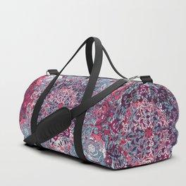 Vintage Boho Burgundy Mandala Duffle Bag