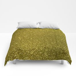 Classic Bright Sparkly Gold Glitter Comforters