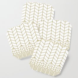 ART DECO IN WHITE Coaster