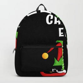 Chatty Elf Family matching Christmas Gift Backpack