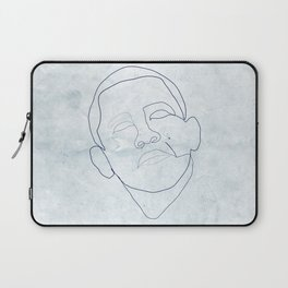 Barack Obama one-line drawing Laptop Sleeve