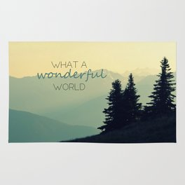 What a Wonderful World Rug