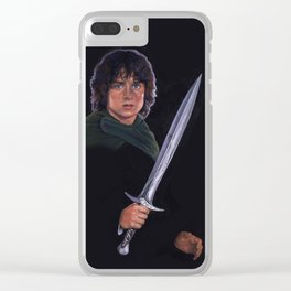FRODO AND STING Clear iPhone Case