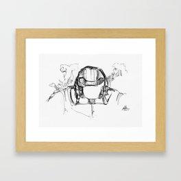 Warbot Sketch #020 Framed Art Print