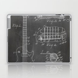 Gibson Guitar Patent - Les Paul Guitar Art - Black Chalkboard Laptop & iPad Skin