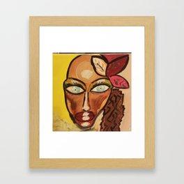 cuban ocean eyes Framed Art Print