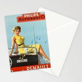 philips autoradio dans votre vintage Poster Stationery Cards