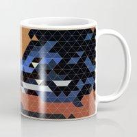 nightcrawler Mugs featuring Geometric Nightcrawler by Head Glitch