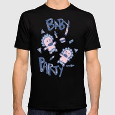 Baby Party MEDIUM Black Mens Fitted Tee