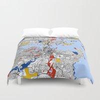 sydney Duvet Covers featuring Sydney by Mondrian Maps