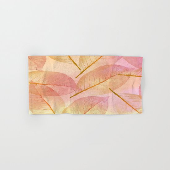 Pastel Fall Leaf Abstract Hand & Bath Towel