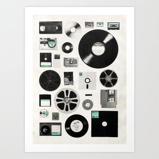 Data Art Print