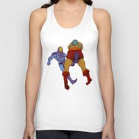skeletor Tank Tops featuring skeletor kick by Toni Caputo