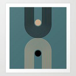 Abstraction_SUNLIGHT_MOONLIGHT_BALANCE_LINE_POP_ART_0603A Art Print