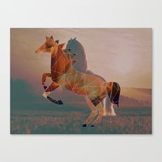 Horse with Horse Canvas Print