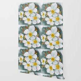 Watercolour Wildflower Wallpaper