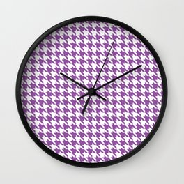 Light Violet Classic houndstooth pattern Wall Clock