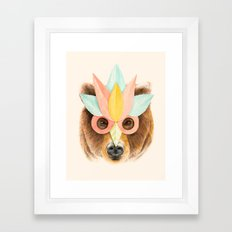 The Bear with the Paper Mask Framed Art Print