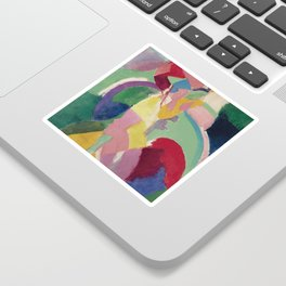 La Parisienne - Robert Delaunay - Art Poster Sticker