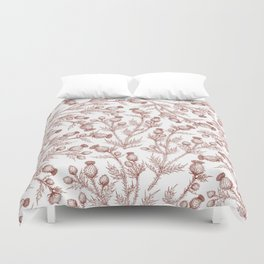Thistle in Autumn Duvet Cover