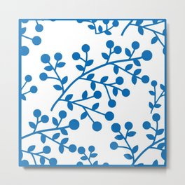 Blueberry Fields Forever - White Edition Metal Print