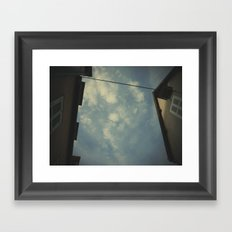 but a glance disperses the most wonderful meetings. Framed Art Print
