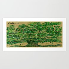 The Baratta Family Tree Art Print