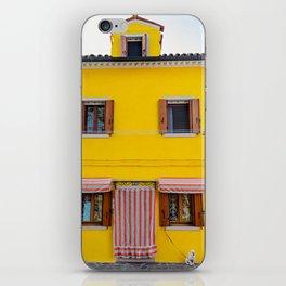 Life is good, Burano Italy iPhone Skin