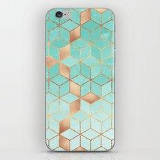 Soft Gradient Aquamarine iPhone & iPod Skin