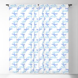 airplanes in the clouds pattern Blackout Curtain