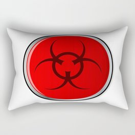 Red Bio Hazard Emergency Button Rectangular Pillow