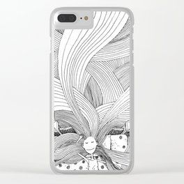The girl with long hair Clear iPhone Case