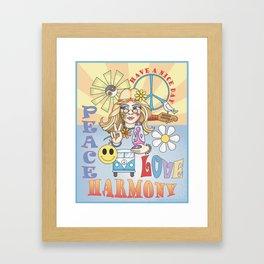 peace n love Framed Art Print