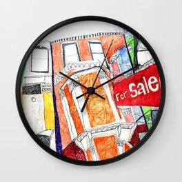 London houses Wall Clock