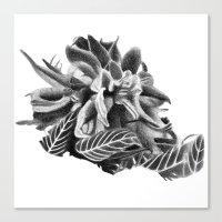 cannabis Canvas Prints featuring cannabis flower by potshoppe
