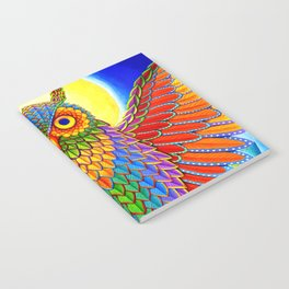 Colorful Rainbow Owl Notebook