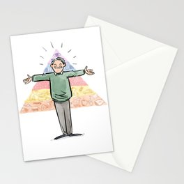 Amazin' Abe Maslow and His Hierarchy of Needs Stationery Cards